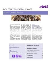 Boletín trimestral FAAEE enero_marzo 17