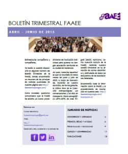 Boletín FAAEE 2