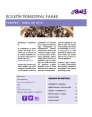 Boletín trimestral FAAEE 5